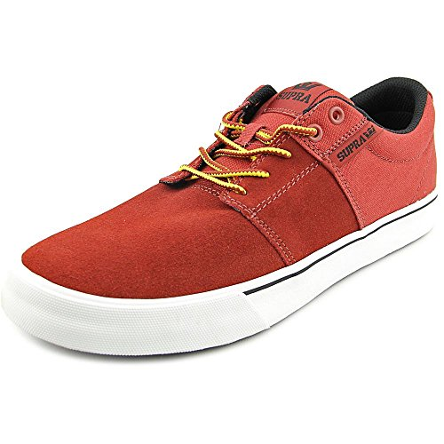 Supra  STACKS VULC II, Sneakers basses hommes Rouge - burnt henna/white