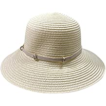 9792fbe08d52c Sannysis De Las Mujeres Flexible Arco Verano Sol Playa Sombrero de Copa ala  Ancha Plegable Sombrero