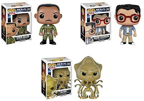 Pop Movies Independence Day Steve Hiller David Levinson and Alien Vinyl Figures Set of 3 by Independence Day