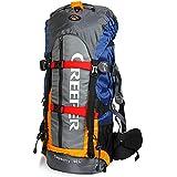 Impermeabile Zaino trekking escursionismo montagna campeggio alpinismo viaggio 70L/65L/60L verde blu arancione