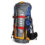 Impermeable Backpack Creeper 60 Litros, Naranja para todos los deportes