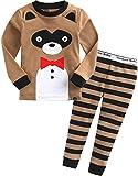 Vaenait baby 74-122 Kinder Jungen Bekleidung Langarm zweiteilig Schlafanzug Schlafanzug Tie Animal Tier Muster Tiermotiv