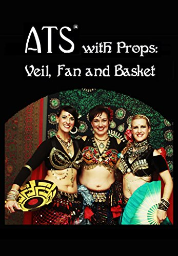 Fan-prop (ATS with Props: Veil, Fan, and Basket - 3 Disc DVD Set - American Tribal Style Belly Dance Props (New 2016 Release) [DVD] ...)