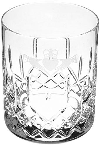 Galway Crystal irischen Claddagh Doppel Altmodische Brille Geschenk-Set