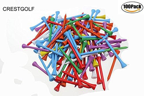 70mm gemischt Farbe Holz Golf Tee, Golf, Golf Holz Tee, 100Stück