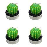 Lumanuby 4X Fashion Kaktus Kerze Kleine Tischdekoration für Buro/Zuhause Paraffin Kerzenset Deko für Leuchter/Geschenk, Kerze Serie (Stil C)