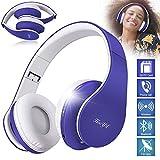 HooYL Kabelloser Faltbarer On-Ear Bluetooth Kopfhörer mit Integrierter Musiksteuerung und...