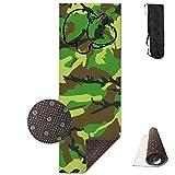FGRYGF Yoga Mat Wide Multi-Purpose Exercise Mat Anti Slip Mat Comfort Fitness Cute Hippo Seamless Yoga Mat Towel