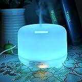 Lychee 300ML Umidificatore del diffusore Aromaterapia diffusore purificatore 4 Timer Einstellug & luce bianca calda a grande capacità (300ml, di luce multicolore)