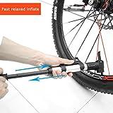 LUCKYKS Mini Pumpe Tragbare Hochdruck Luftpumpe Fahrradpumpe Radpumpe Fahrrad Standpumpe für Mountainbike, Rennrad ( LC-2728 )