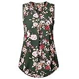 Tops, SANFASHION Damen Sommer ärmellose Blumendruck V-Ausschnitt tägliche Weste Tank Top Bluse