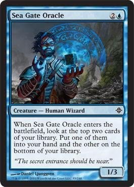Magic: Gathering the Gathering Magic: - Sea Gate Oracle - Rise of the Eldrazi by Magic: the Gathering B003IEEYIY ece5b4