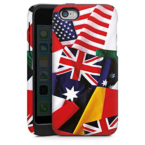 Apple iPhone 5 Housse étui coque protection Drapeaux Drapeaux Nations Cas Tough brillant