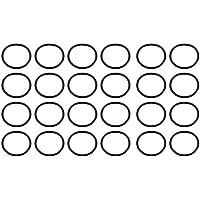 sourcing map 20 unids nitrilo negro butadieno caucho nbr junta tórica 18 mm diámetro interior 1.5 mm ancho