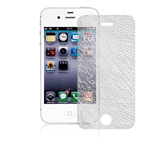iPhone 4S , 4 Schutz Set, Conie Mobile Set [1x Silikon Hülle + 1x Displayschutzfolie] Backcover Schutzhülle und Panzerglas Schutzfolie Anti Fingerabdruck Lila