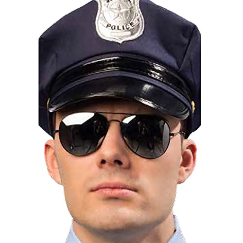 le Polizei-Brille verspiegelt Pilotenbrille Kostüm-Zubehör Karneval ()