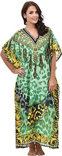 Nightingale Collection - Robe - Femme Multicolore Bigarré Vert