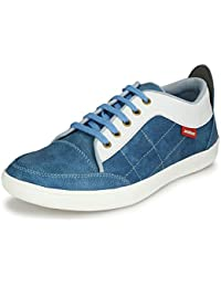 NKS Men's Stylish Comfortable Synthetic Blue Casual Sneaker Shoe