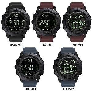 awhao SPOVAN Bluetooth Herrenuhr, Sportmodell, Digitales Digitalgerät. 2 Batterien 50 Meter Vom Relogio Feminino PR1 Entfernt