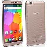 Cubot Dinosaur Smartphone ohne Vertrag (5.5 Zoll (15,2 cm) HD Touch-Display mit 4150mAh Akku, 3GB Ram, 16GB interner Speicher, Android 6.0, Dual-SIM, 4G LTE FDD, 8MP Frontkamera / 13MP Hauptkamera, IPS 2.5D gebogener Bildschirm und Rutschhemmende Rückabdeckung) Gold