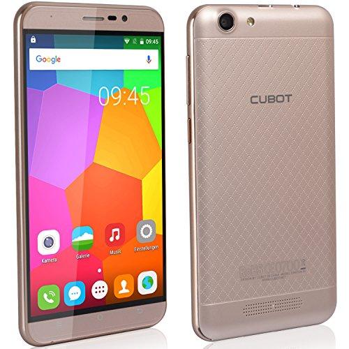 Cubot Dinosaur Smartphone ohne Vertrag (5.5 Zoll (15,2 cm) HD Touch-Display mit 4150mAh Akku, 3GB Ram, 16GB interner Speicher, Android 6.0, Dual-SIM, 4G LTE FDD, 8MP Frontkamera / 13MP Hauptkamera, IPS 2.5D gebogener Bildschirm und Rutschhemmende Rückabdeckung) für E-Plus, O2, T-Mobile und Vodafone Gold [ Cubot Offiziell ]