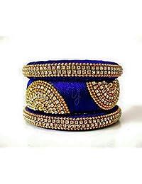 Beulah Fancy Silk Thread Bangle Set For Women (Size: 2.4, Beulah Fancy Silk Thread 1--2.4) - B078C6M4K7