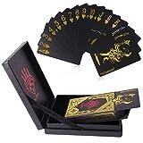 Die besten Spielkartens - Spielkarten, 54Pcs Luxus wasserdichter Plastik PVC Poker Skatkarten Bewertungen