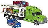 ColorBaby Camión portacoches y 4 Coches fricción, 50 cm (44432.0)