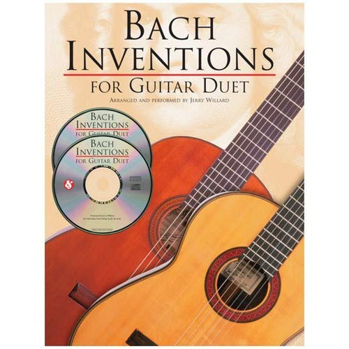JS Bach: Inventions For Guitar Duet. Partitions, CD pour Tablature Guitare(Duo)