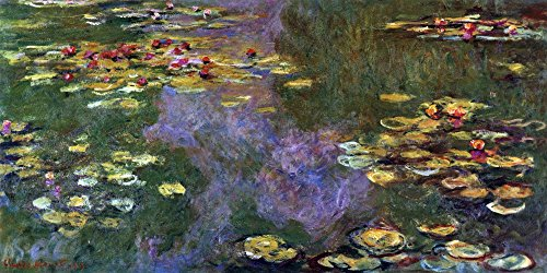 Giverny, Monet Canvas-frame (Das Museum Outlet–Seerosenteich, Giverny von Monet, gespannte Leinwand Galerie verpackt. 96,5x 121,9cm)