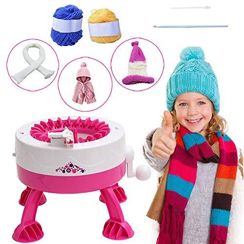 Board Rotierenden Doppelstrickwebstuhl, runder Webstuhl, Nadeln Strickmaschine Weaving Loom Kit, runder Webstuhl Weaver Kit für Erwachsene/Kinder ()