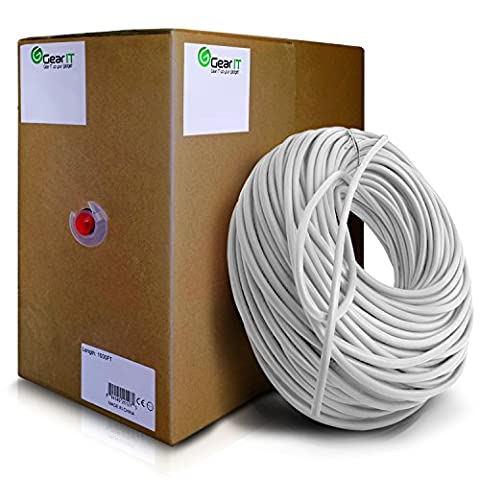 Gearit 0,5 mètres Cat 6 Câble Ethernet Cat6 Snagless Patch réseau LAN – Ordinateur Cordon, Blanc [Garantie à vie] 1000 Feet (Bulk) blanc