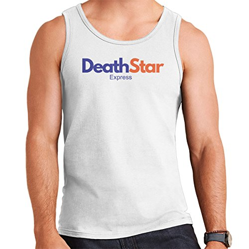 Star Wars Rogue One Death Star Express FedEx Logo Men's Vest White