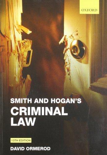 Smith and Hogan Criminal Law by David Ormerod (2011-09-25)