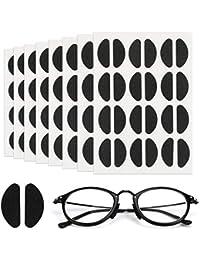 [96 pares] Mwoot Almohadillas de nariz Adhesiva de espuma suave Almohadillas de nariz antideslizantes finas Almohadillas de nariz finas para gafas Gafas de sol (Negro)
