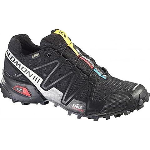 Salomon Speedcross 3 Gtx - Zapatos para hombre, color negro, talla 46