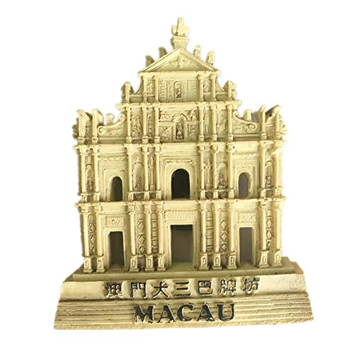 Macao China World Harz 3d Starker Kühlschrankmagnet Souvenir Tourist Geschenk Chinesischer Magnet Handarbeit Kreative Home and Kitchen Decor Magnetischer Aufkleber