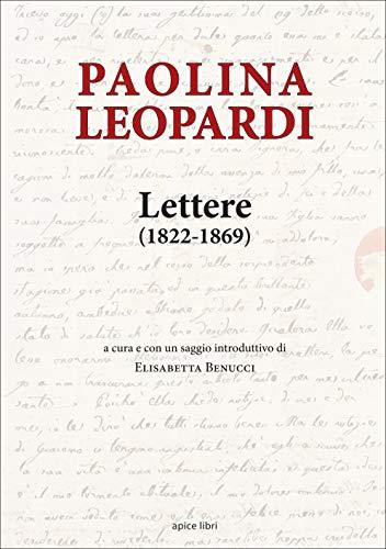 Lettere 1822-1869 (Marginalia) por Paolina Leopardi