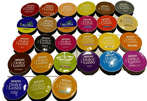 38 pod dolce gusto pods every flavour variety pack 1x each flavour. Black Bedroom Furniture Sets. Home Design Ideas