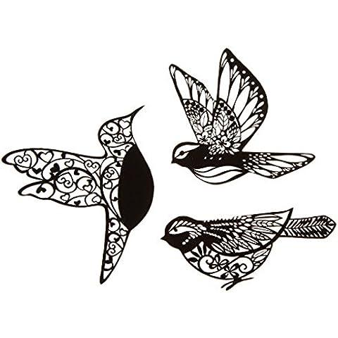 3d Carta Camoscio Nero Uccello Intaglio Delicata Arte Per La Decorazione Della Carta