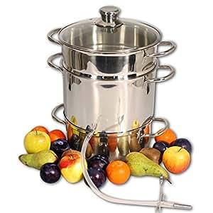 Extracteur de jus vapeur cuiseur vapeur centrifugeuse en acier inox 26cm - Cuiseur vapeur industriel ...