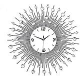 LightInTheBox–Alarma Caja @ Estilo Moderno Reloj de pared metal Sunburst Cristal groá 60cm enorme reloj de pared tiempo decorativa de metal y cristal