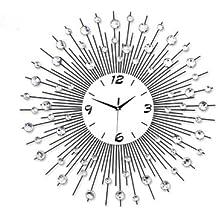 u alarma caja estilo moderno reloj de pared metal sunburst cristal gro cm