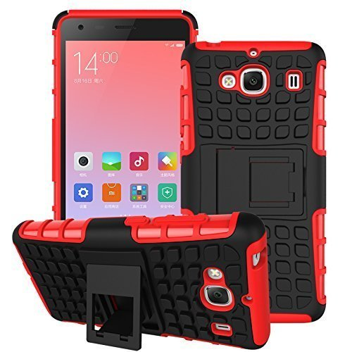 Plus Shock Proof Protective Rugged Armor Super Hybrid Heavy Duty Back Case Cover For Huawei Honor Holly U19 – Hot Red