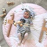 Manta de bebé con forma de oso para acurrucarse, gatear y jugar, confeccionada en algodón 100%, ideal para lactantes y niños pequeños, sin sustancias nocivas, apta también para utilizarse como cambiador, 100 % algodón, unicornio, 95 cm