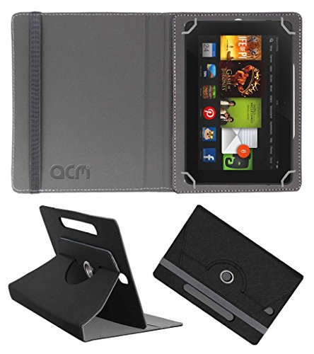 Acm Designer Rotating Leather Flip Case For kindle Fire Hd 7 2012 2nd Gen Tablet Cover Stand Black  available at amazon for Rs.169
