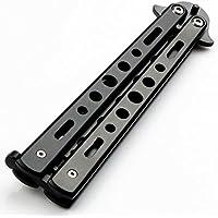 tfxwerws útil plegable de acero inoxidable mariposa herramienta de formación entrenador negro