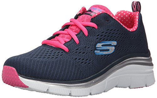 SkechersFashion FitStatement Piece - Zapatillas Mujer, color Negro, talla 39