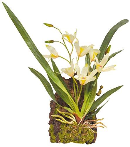 Lucky Reptile IF-16 Hängeorchidee Kunststoffpflanze/Plastikpflanze zum hängen, weiß