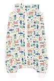 Schlummersack Bambus-Musselin Sommerschlafsack mit Füßen 0.5 Tog - Autos - Jungen - 24-36 Monate/100 cm